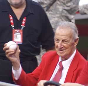 Stan Musial with the 2009 Major League Basebal...